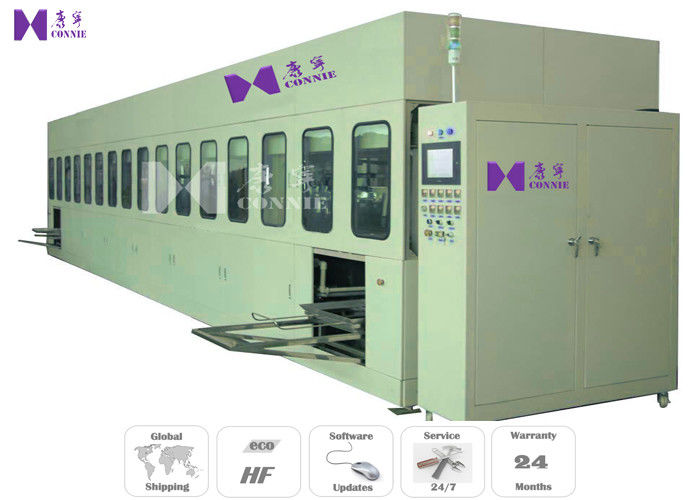 Full Auto Multi - Tank Ultrasonic Cleaning Machine , 28Khz / 40Khz Jewelry Ultrasonic Cleaning Generator
